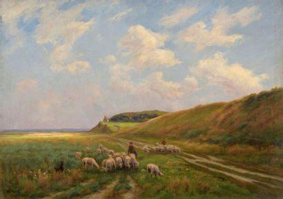 Charles WISLIN (1852-1932)  Gardienne et...