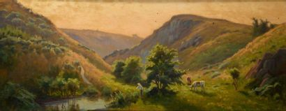 Charles WISLIN (1852-1932)  Dans le vallon...