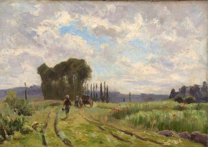 Charles WISLIN (1852-1932)  Le retour des...