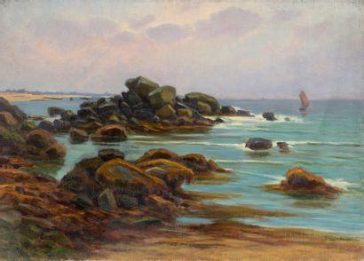 Charles WISLIN (1852-1932)  Marée montante...