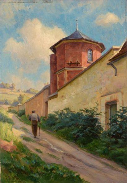 Charles WISLIN (1852-1932)  Promeneur au...