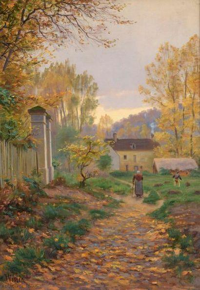 Charles WISLIN (1852-1932)  Promeneuse et...