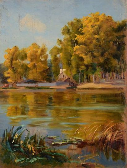 Charles WISLIN (1852-1932)  La Seine à l'automne,...