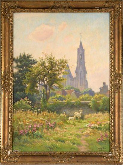 Charles WISLIN (1852-1932)  À Senlis, le...