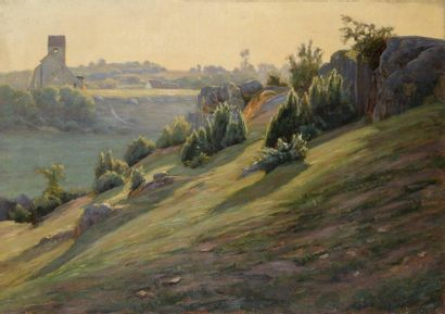 Charles WISLIN (1852-1932)  Les rochers près...