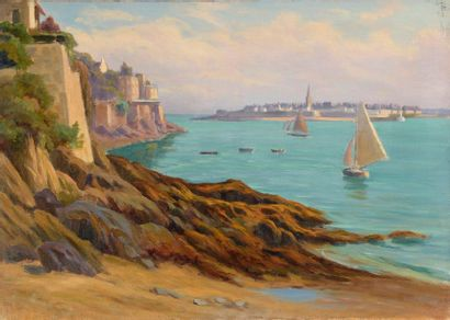 Charles WISLIN (1852-1932)  Voiliers dans...