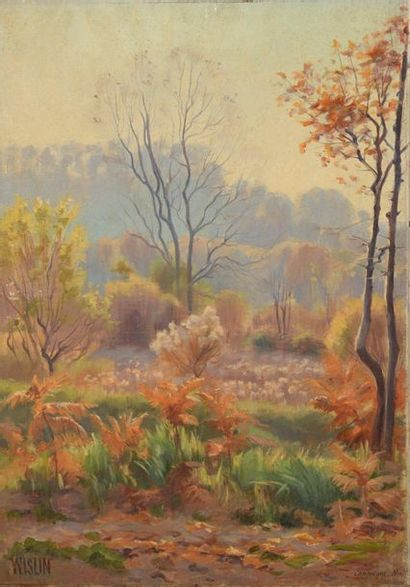 Charles WISLIN (1852-1932)  La forêt de Compiègne...
