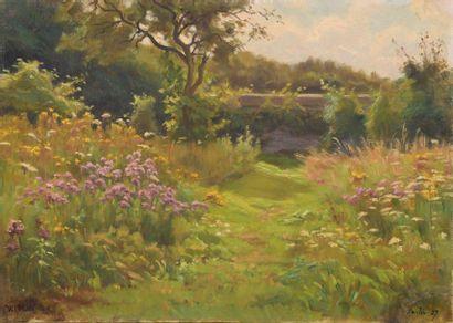Charles WISLIN (1852-1932)  Paysage de printemps...