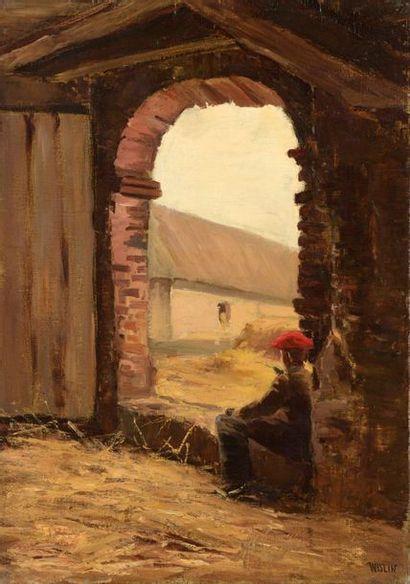 Charles WISLIN (1852-1932)  Jeune garçon...