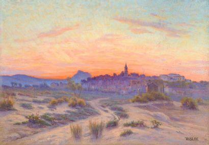 Charles WISLIN (1852-1932)  Village de Corse...