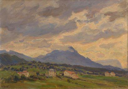 Charles WISLIN (1852-1932)  Tombée du jour...
