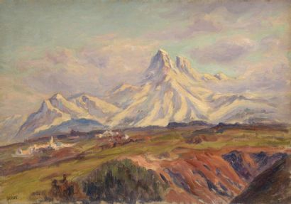 Charles WISLIN (1852-1932)  Vue du village...
