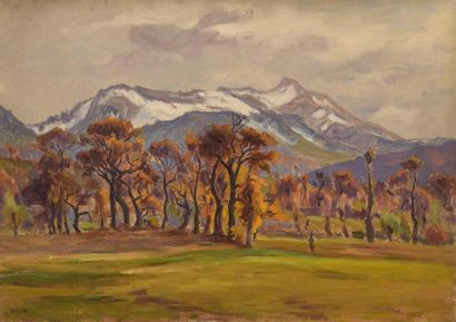Charles WISLIN (1852-1932)  Paysage d'automne...