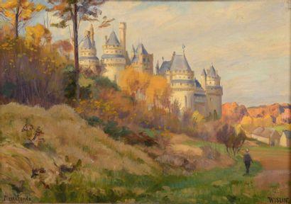 Charles WISLIN (1852-1932)  Château de Pierrefonds,...