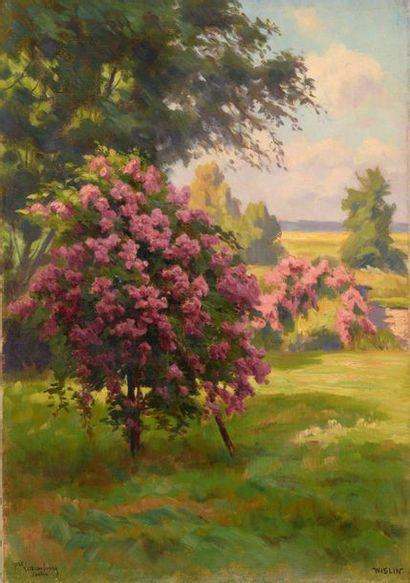 Charles WISLIN (1852-1932)  L'arbre en fleur...
