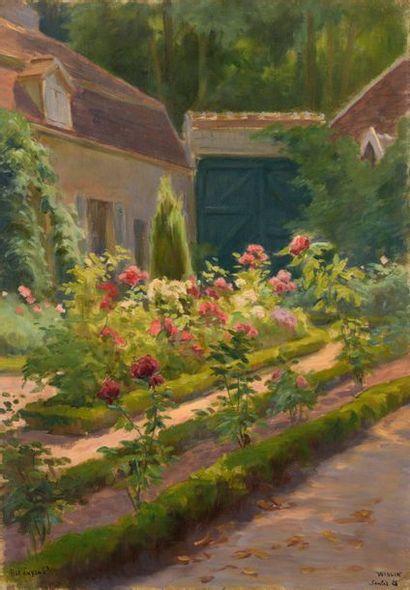 Charles WISLIN (1852-1932)  Les rosiers au...