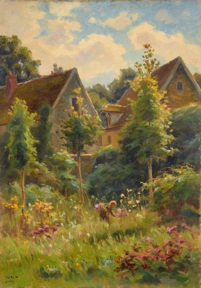 Charles WISLIN (1852-1932)  La cueillette...