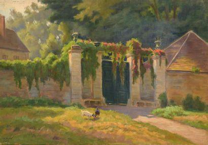 Charles WISLIN (1852-1932)  Le portail à...