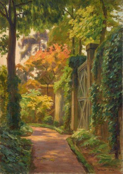 Charles WISLIN (1852-1932)  L'automne à Senlis...