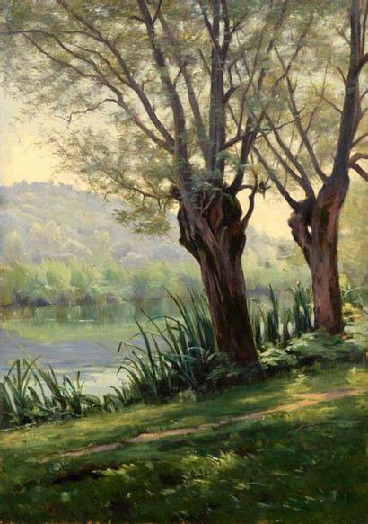 Charles WISLIN (1852-1932)  Bord du Loing...