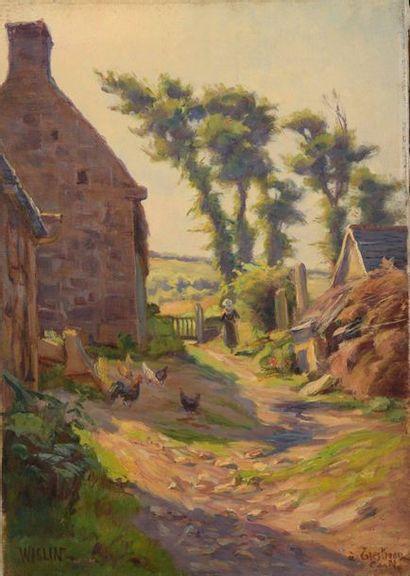 Charles WISLIN (1852-1932)  Ferme à Trestraou...