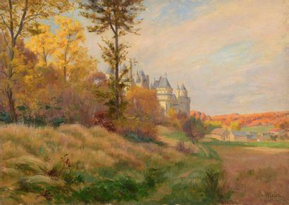 Charles WISLIN (1852-1932)  Le château de...