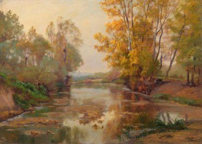 Charles WISLIN (1852-1932)  Pêche en Vienne...