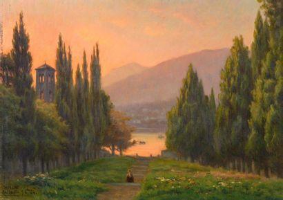 Charles WISLIN (1852-1932)  Crépuscule à...