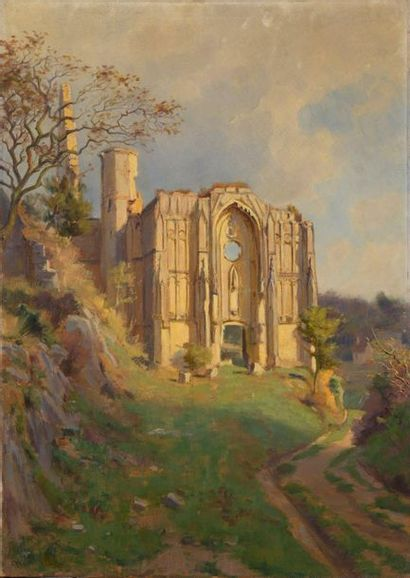 Charles WISLIN (1852-1932)  Ruines d'une...