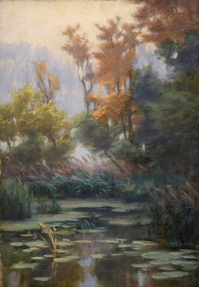 Charles WISLIN (1852-1932)  Étang à l'automne...