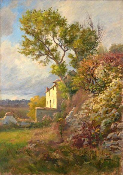 Charles WISLIN (1852-1932)  Ruines au printemps...