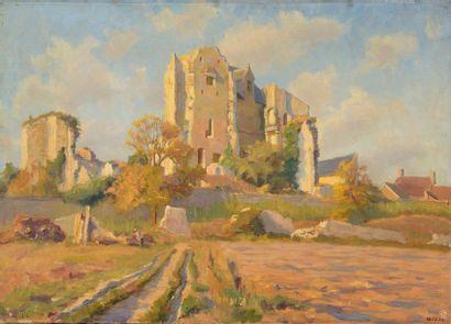 Charles WISLIN (1852-1932)  Vue des ruines...
