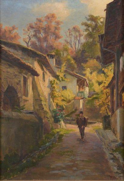Charles WISLIN (1852-1932)  L'écolier dans...