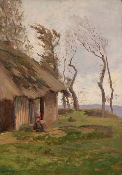 Charles WISLIN (1852-1932)  Homme au bonnet...