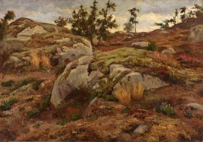 Charles WISLIN (1852-1932)  Les rochers Bourrou,...