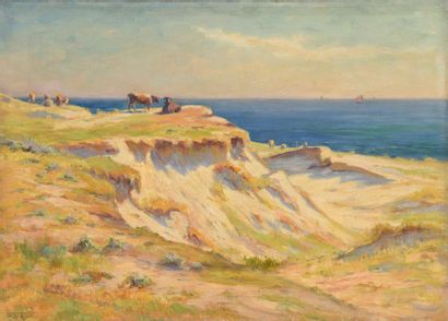 Charles WISLIN (1852-1932)  Vaches sur les...