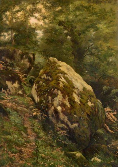 Charles WISLIN (1852-1932)  Rochers en forêt...