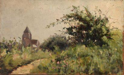 Charles WISLIN (1852-1932)  L'église de Cernay,...