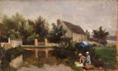 Charles WISLIN (1852-1932)  Lavandières à...