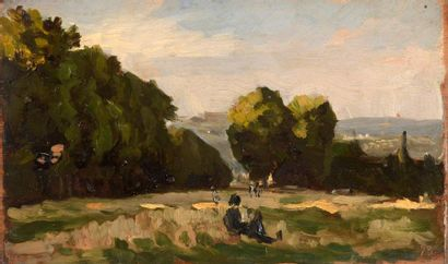 Charles WISLIN (1852-1932)  Promeneurs à...