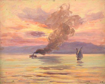Charles WISLIN (1852-1932)  Voilier et vapeur...