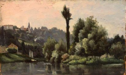 Charles WISLIN (1852-1932)  Bords de Seine,...