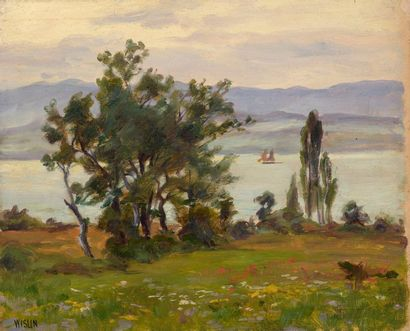 Charles WISLIN (1852-1932)  Voiliers sur...