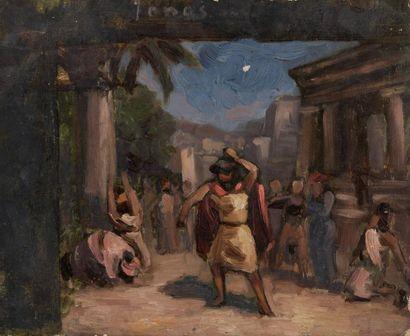 Charles WISLIN (1852-1932)  Scène de l'Antiquité...
