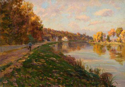 Charles WISLIN (1852-1932)  Promeneur en...