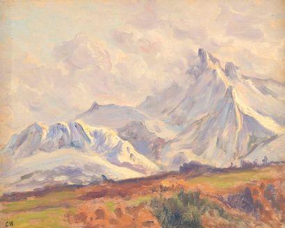 Charles WISLIN (1852-1932)  La dent d'Oche...