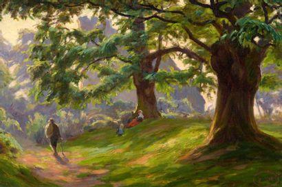 Charles WISLIN (1852-1932)  Les promeneurs...