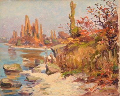 Charles WISLIN (1852-1932)  Les bords du...