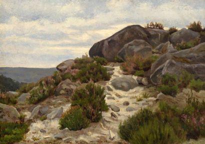 Charles WISLIN (1852-1932)  Rochers en bord...