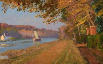 Charles WISLIN (1852-1932)  Voilier sur la...